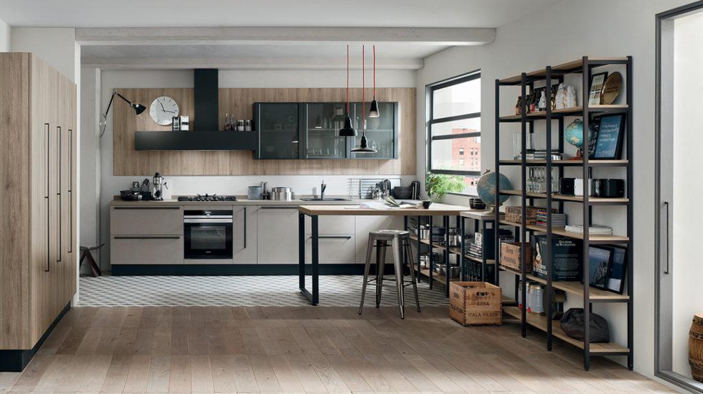 Cucina Industrial Style di Veneta Cucine modello Metropolitan