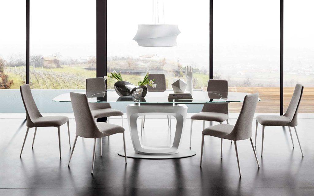tavolo orbital calligaris in vetro