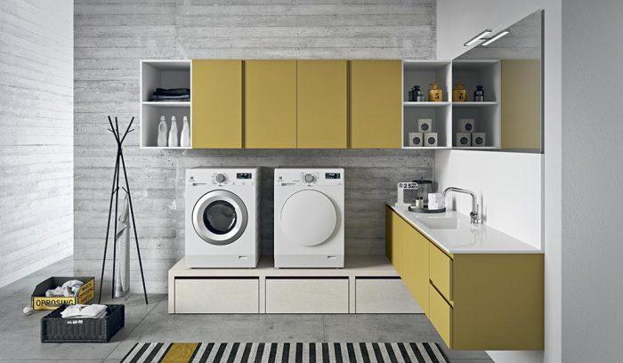 mobile lavanderia giallo