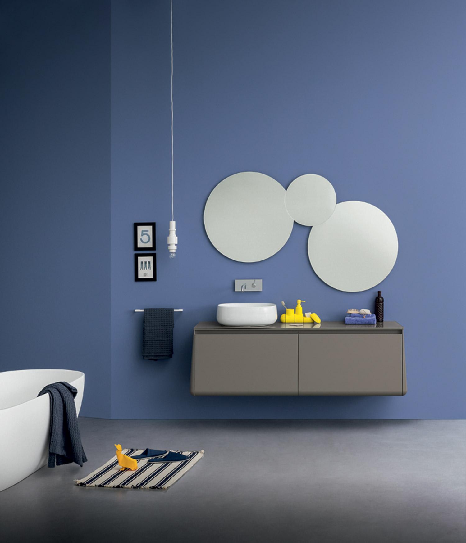 specchio tondo per bagno
