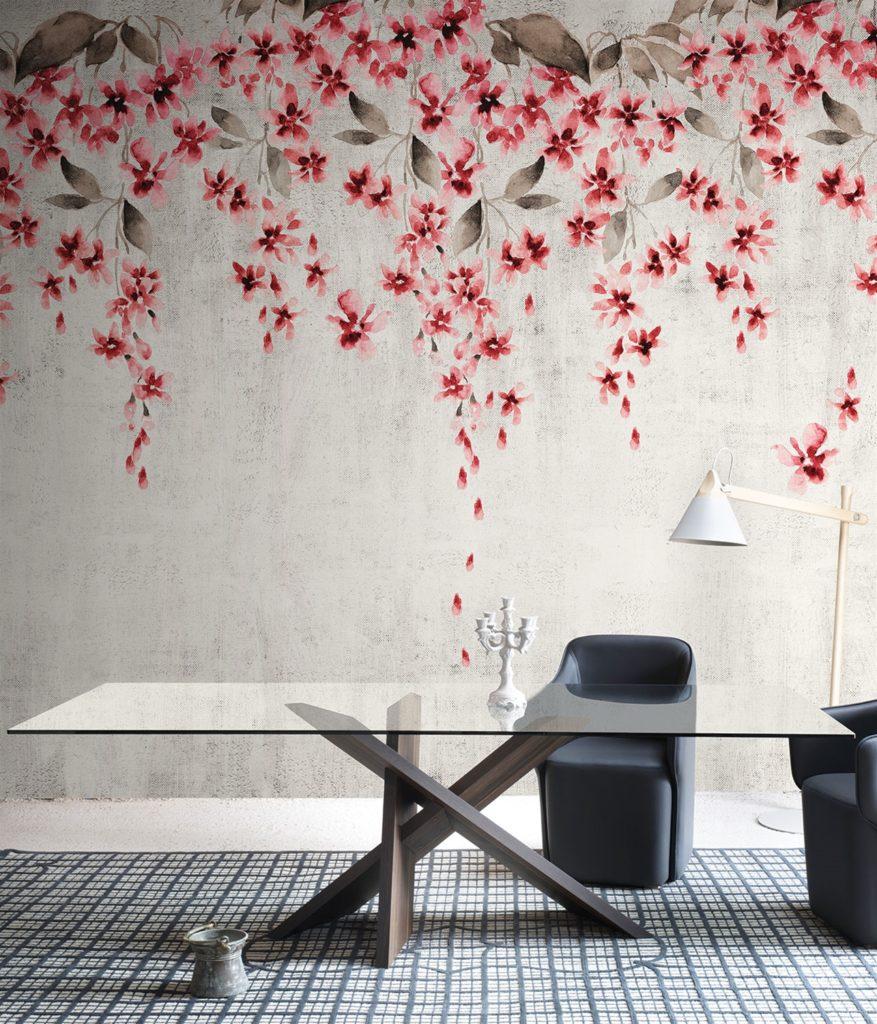 Tappezzeria fiori primaverili