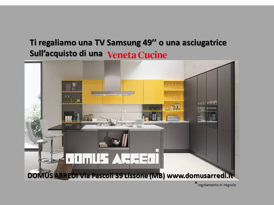 Promo Veneta Cucine CHE SPATTACOLO !! piani in quarzo e una  Smart Tv compresa nel prezzo
