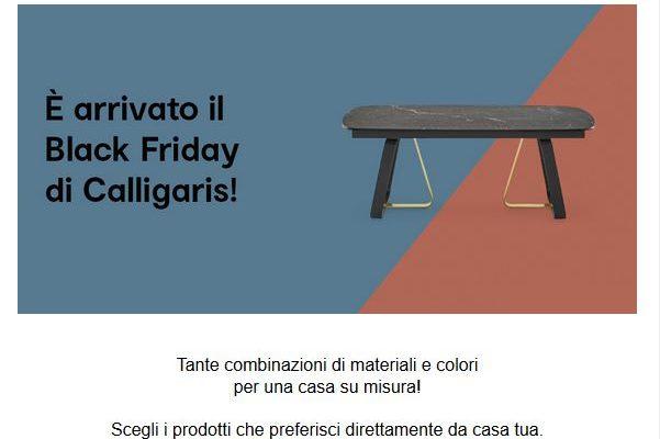 Black Friday 2020 Calligaris e Domus Arredi Lissone