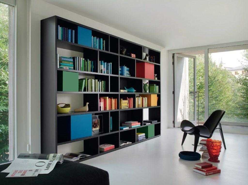 libreria colorata componibile