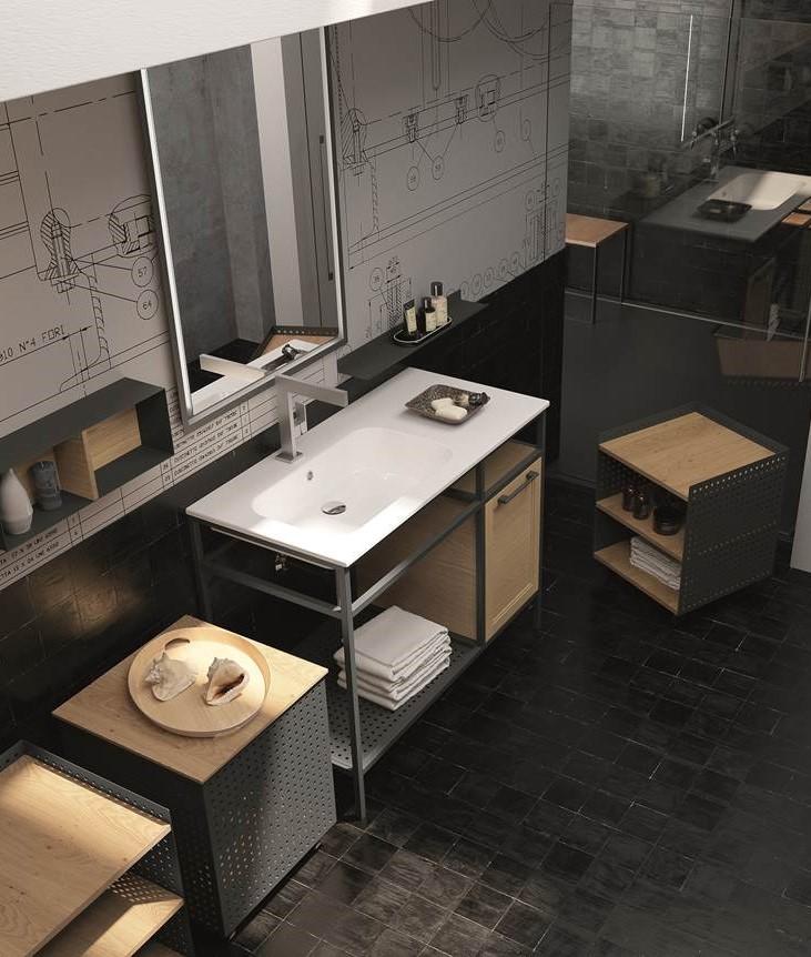 Da domus arredi a lissone trovate tutta la linea di bagni - Specchio stile industriale ...