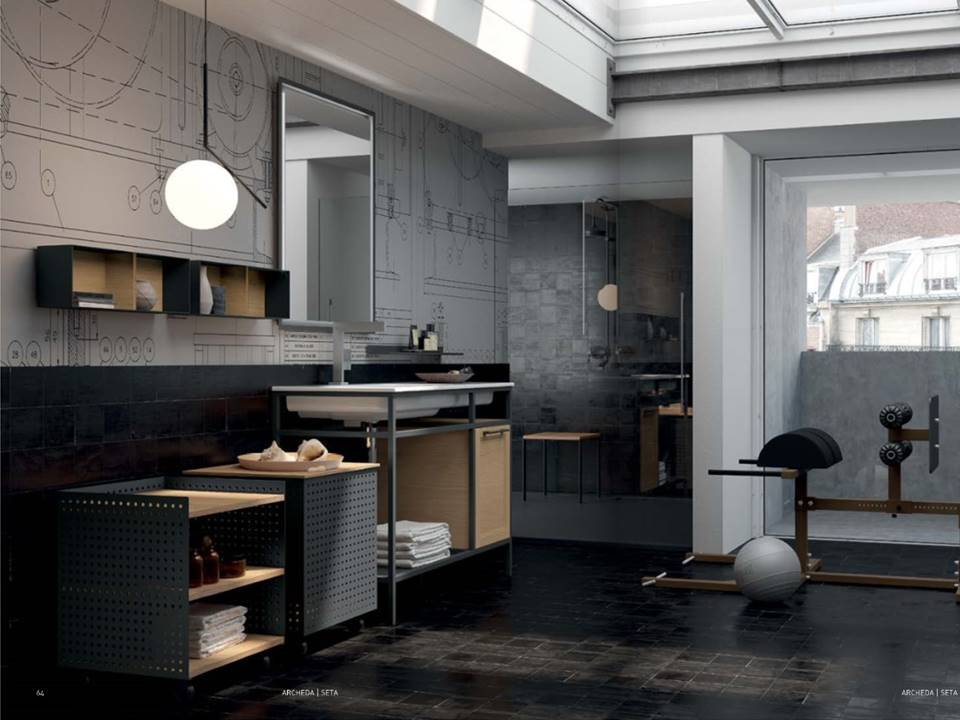 bagno metallico industial style