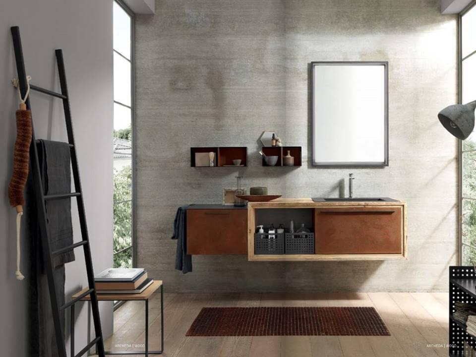 Da domus arredi a lissone trovate tutta la linea di bagni in industrial style - Bagno stile industriale ...