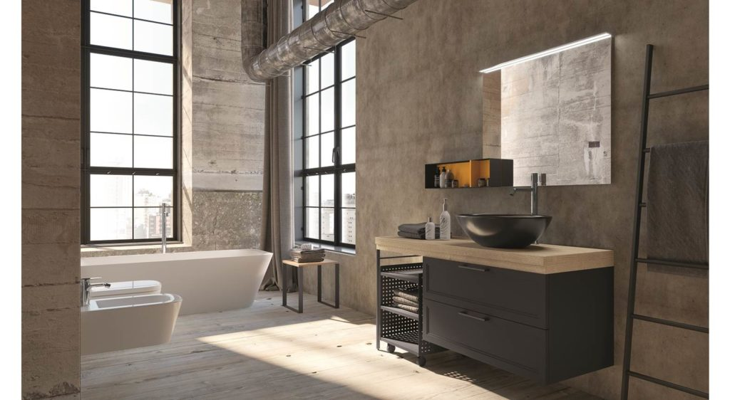 bagno industrial style