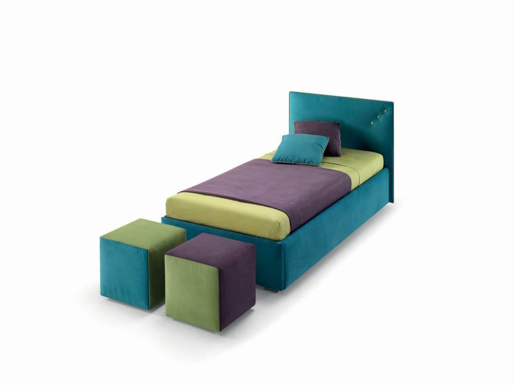 letto singolo verde