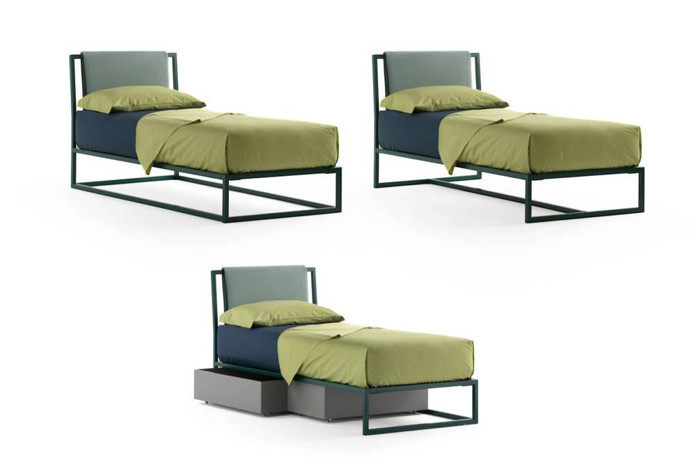 letto in ferro colorato per cameretta