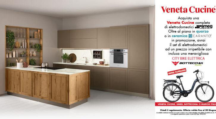 Promo Veneta Cucine - SMEG!! piani in quarzo e una  CITY BIKE ELETTRICA compresa nel prezzo
