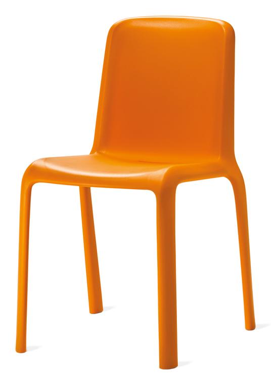 sedia arancio da cucina produzione veneta cucine