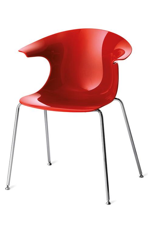 sedia rossa da cucina produzione veneta cucine