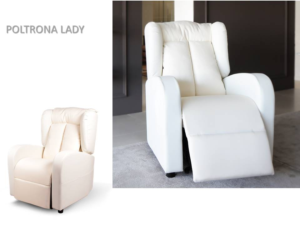 poltrona relax lady in piuma dìoca